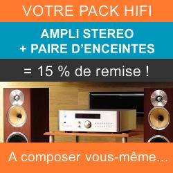 Composez votre Pack stéréo Hifi avec un amplificateur intégré et une paire d'enceintes pour recevoir 15% de remise