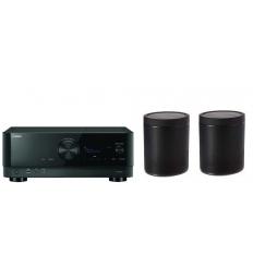 Pack Home cinéma RX-V6A + Paire de MusicCast 20 noir