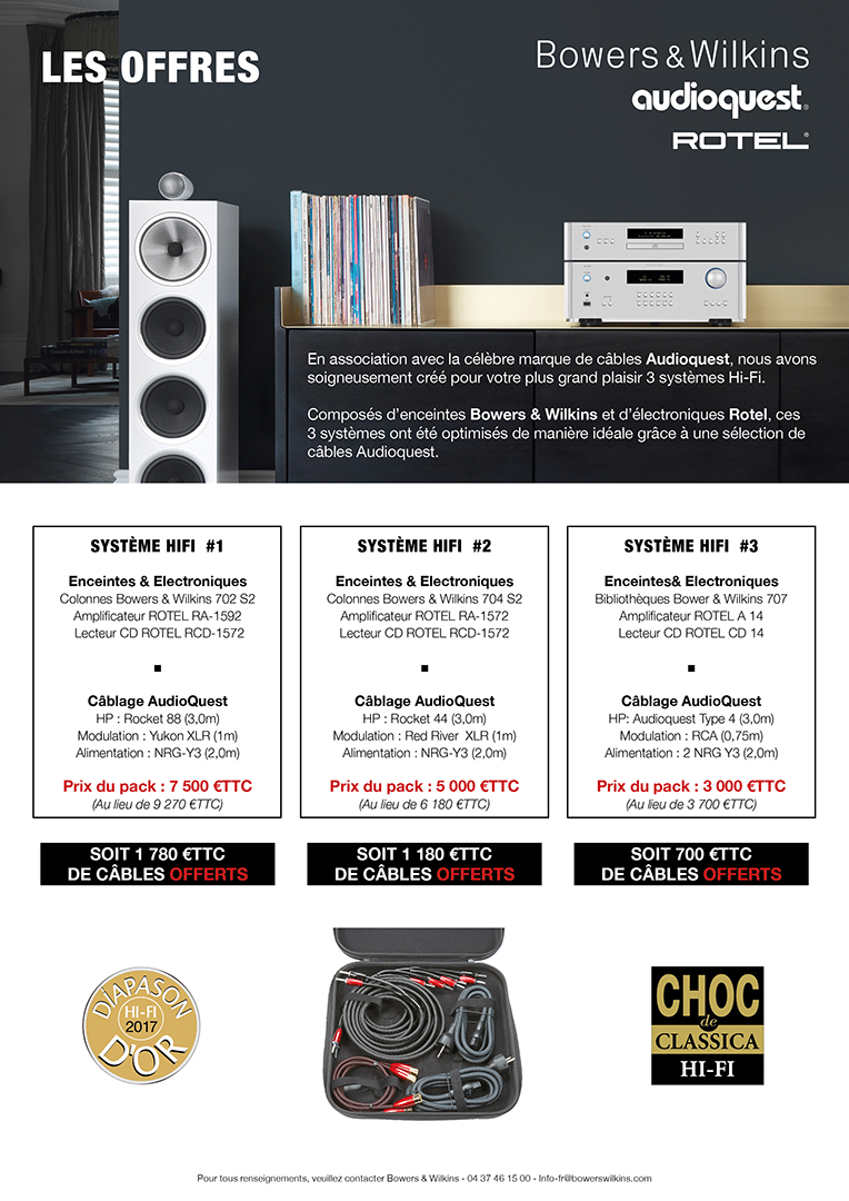 Promotion BW ROTEL AUDIOQUEST