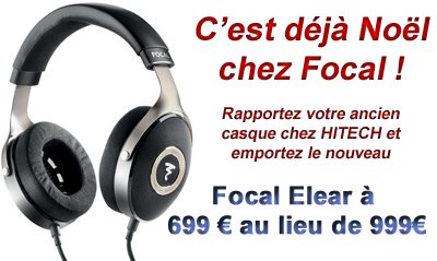 Promotion FOCAL ELEAR